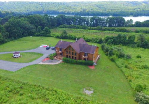 Aerial View - Lake View Lodge Rentals & Retreats