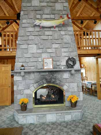 Great Room Fireplace - Lake View Lodge